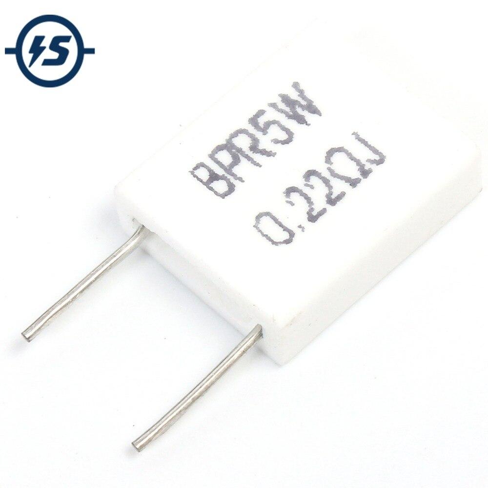 10xCeramic Cement Power Axial Resistor 5W 5/% 0.22 ohm 0.22ohm 0.22R good quality
