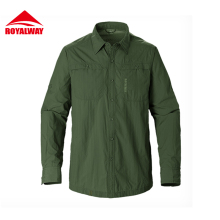 ROYALWAY Caping Hiking Shirts Quick Dry Breathable UV Proof 50  Full Length Sleeves 2017 New Arrival #RIM7037CS