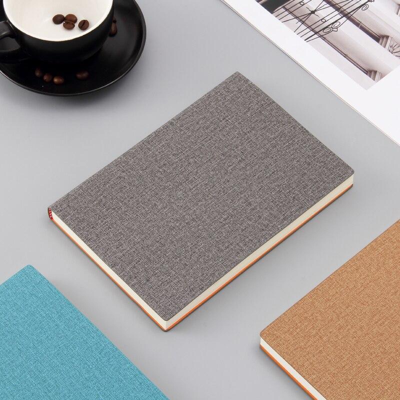 A5 paperback caderno grosso pano de algodão padrão macarons diário estudante notebook Inglês