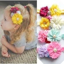 Yundfly Baby Girls Boutique Chiffon Headband Kids Rose Flower Hairband Children Headwear Hair Accessories Birthday Gift