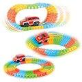 Diecast diy enigma toy roller coaster trilha eletrônica brinquedo do carro ferroviário carro de brinquedo para crianças cor aleatória
