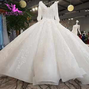 Image 1 - AIJINGYU חתונה שמלת 2021 2020 Luxuris שמלות בריטניה גואנגזו גותי שמלות למעלה שמלת כלה