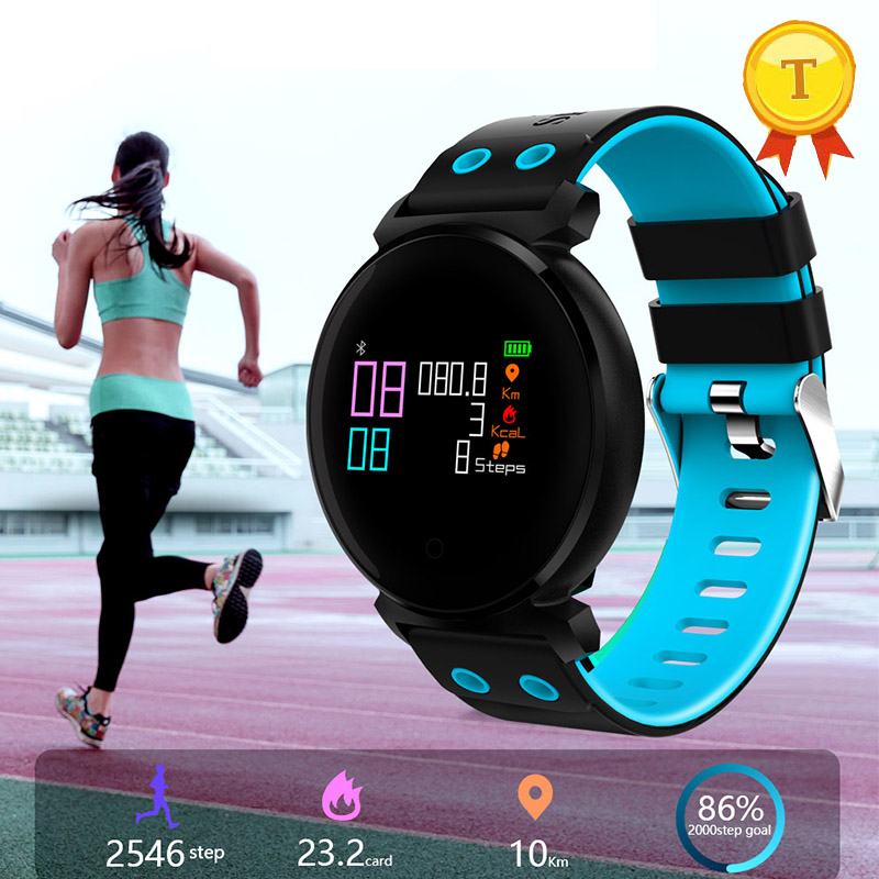 Smart sport wristband blood pressure/oxygen monitor IP68 professional waterproof color screen smart band pk xiomi mi band 3-in Smart Wristbands from Consumer Electronics    1