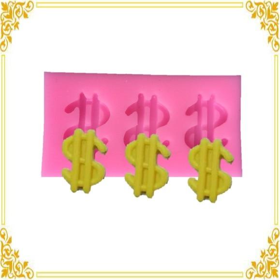 Luyou $$$Dollar Money Sign Silicone fondant Mold, Chocolate Mold, Cake Decoration Tools,USD Cake mold FM1276