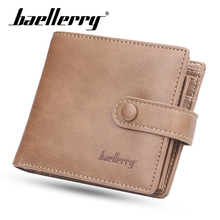 Baellerry PU Casual Style Zipper Men Wallets Card Holder Small Wallet Male Synthetic Leather Man Purse Coin Purse Men Carteira