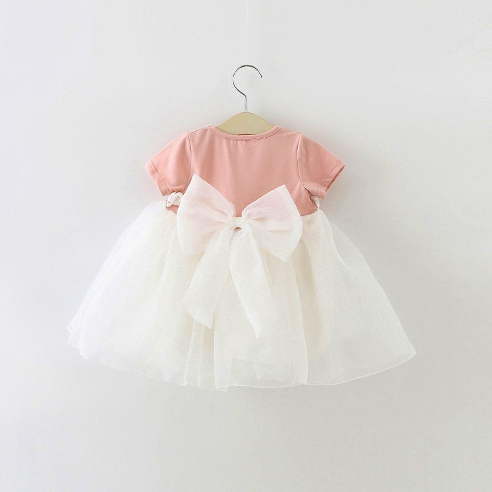 HE Hello Enjoy Baby Girl Dress 1 year birthday dress lace infant baptism vestido infantil bowknot princess wedding dress 7