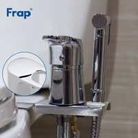 FRAP Bidets neue wc massivem messing chrome handheld bidet toilette tragbare bidet dusche gesetzt heiße und kalte wasser bidet mischer wasserhahn