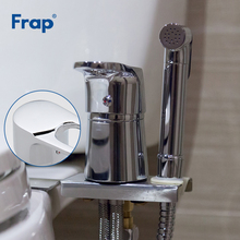 FRAP Bidets new toilet solid brass chrome handheld bidet portable shower set hot and cold water mixer faucet