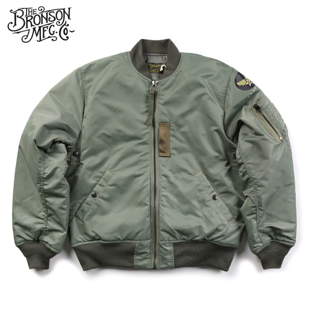 9f3f5782d9 Bronson Reproduction 1955 MA-1 Flight Jacket Vintage USAAF Bomber Flying  Aviator Jacket Waterproof Winter