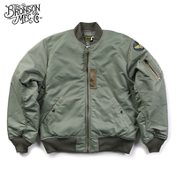 Bronson Reproduction 1955 MA 1 Flight Jacket Vintage USAAF Bomber Flying Aviator Jacket Waterproof Winter Men's Coat