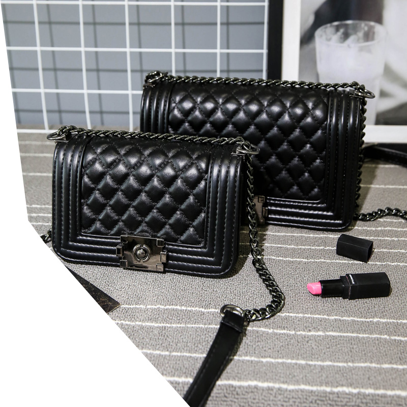 Beg bahu wanita Handbags High Quality Lady Quilted Plaid Chain Crossbody Bags wanita wanita beg tangan kulit sac femme utama
