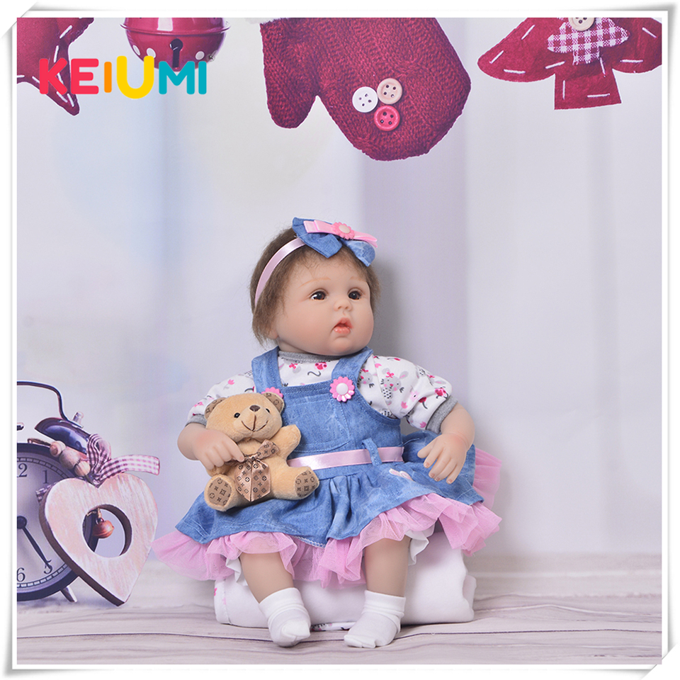 17 Realistic Reborn Babies 42 cm Mohair True To Life Newborn Baby Dolls For Children Birthday