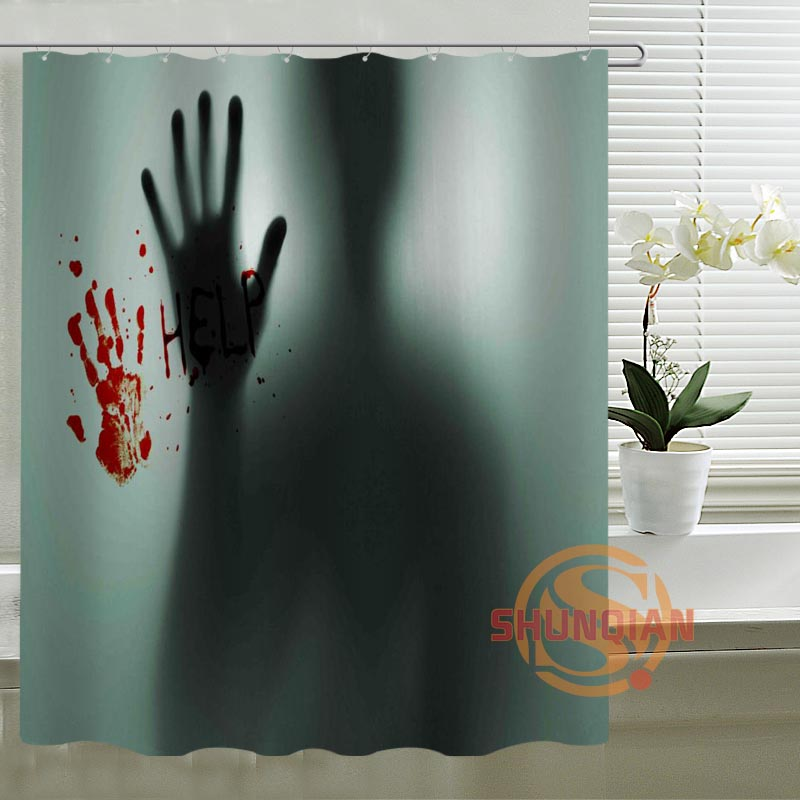 The Walking Dead Horrible Pictures Shower Curtain Bathroom Polyester Fabric Bath Curtain Printed