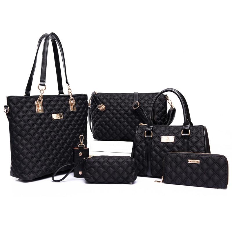Luxury Handbags Women Bags Designer 6pcs Bag Set Crossbody Bags for Women Nylon Shoulder Ladies Composite Bag
