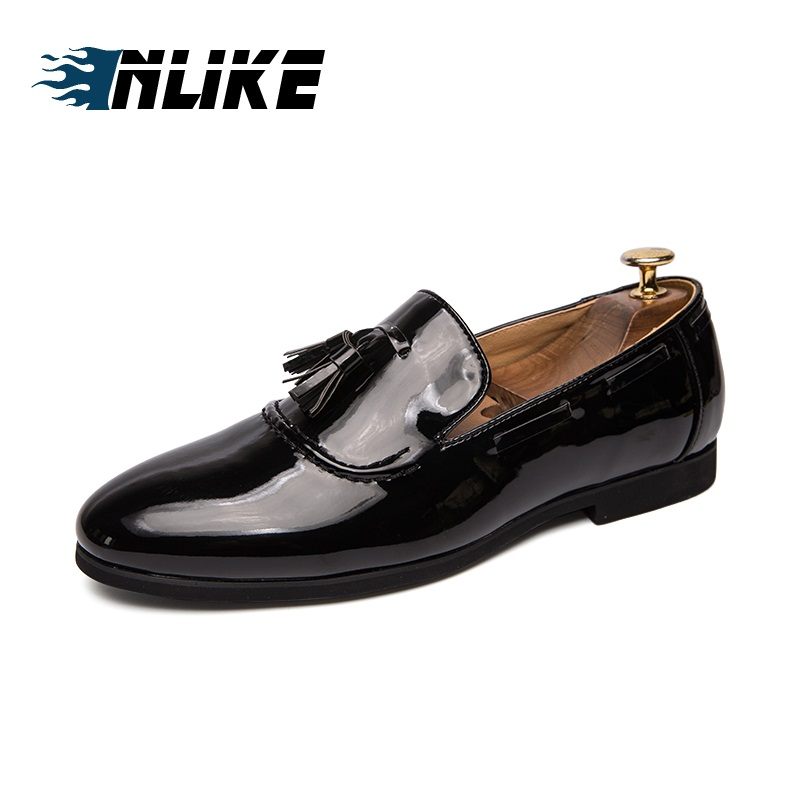 Men Shoes Big Size England Trend Casual Shoes Male Patent Leather Oxford Leather Slip On Dress ShoesMen Shoes Big Size England Trend Casual Shoes Male Patent Leather Oxford Leather Slip On Dress Shoes