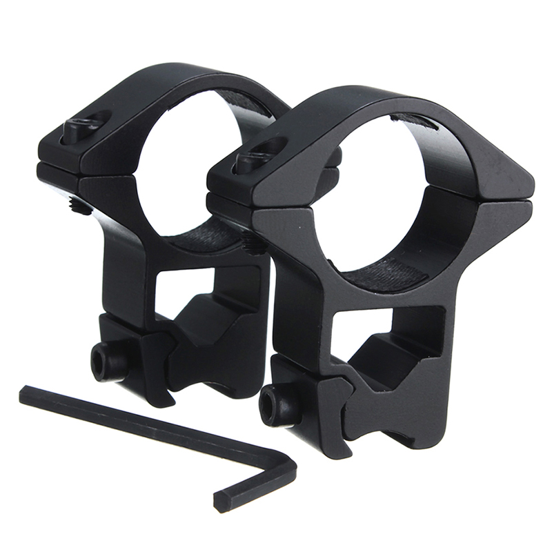 Useful 11mm Rail Picatinny Offset Ring Flashlight Laser Sight Scope Mount Rifle