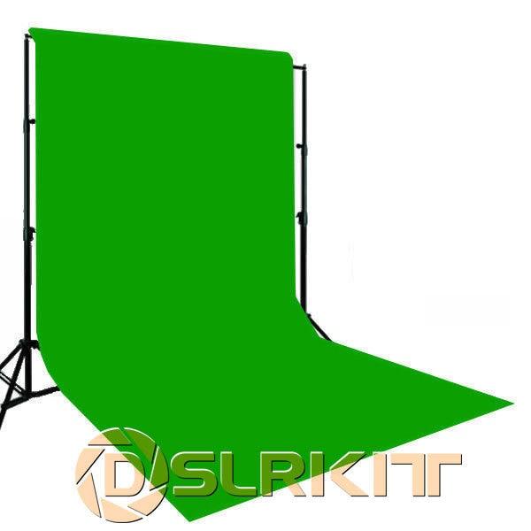 Photo lighting studio Chromakey green screen Muslin background backdrop 3X6M