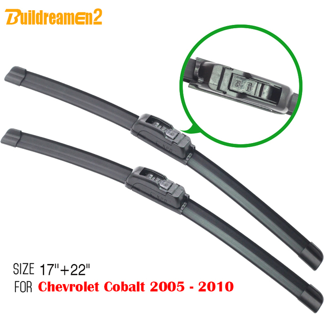 Buildreamen2 Ca Window Windshield Wiper 1pair For Chevrolet Cobalt 2005 2010 Auto Soft Rubber Blades Free Shipping