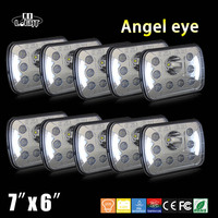 CO LIGHT 10pcs Led Headlight High Low Beam 7 6 55W Wholesale Price Auto DRL Led