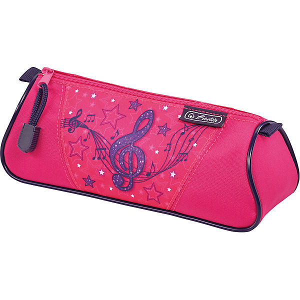 Pencil Case-cosmetic bag Herlitz Triangular, Melody Clef MTpromo herlitz ранец школьный flexi plus melody clef с наполнением 5 предметов