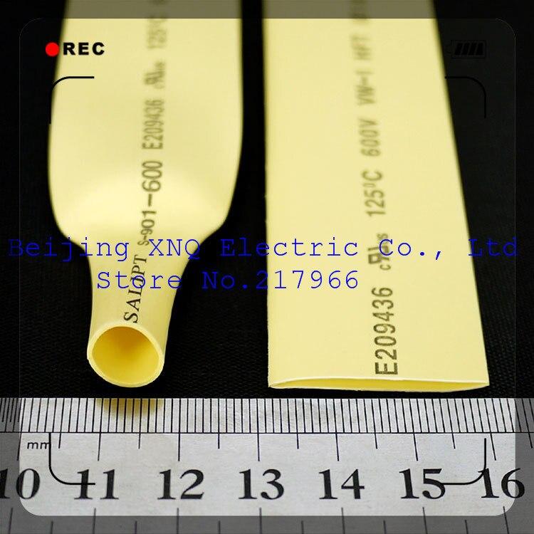 18mm Gelb Schrumpf Schlauch Schrumpf Schlauch Wärme Schrumpf Schlauch Isolierung Rohs Ul Zertifizierten Umwelt Elektronische Zubehör & Supplies Freies Verschiffen