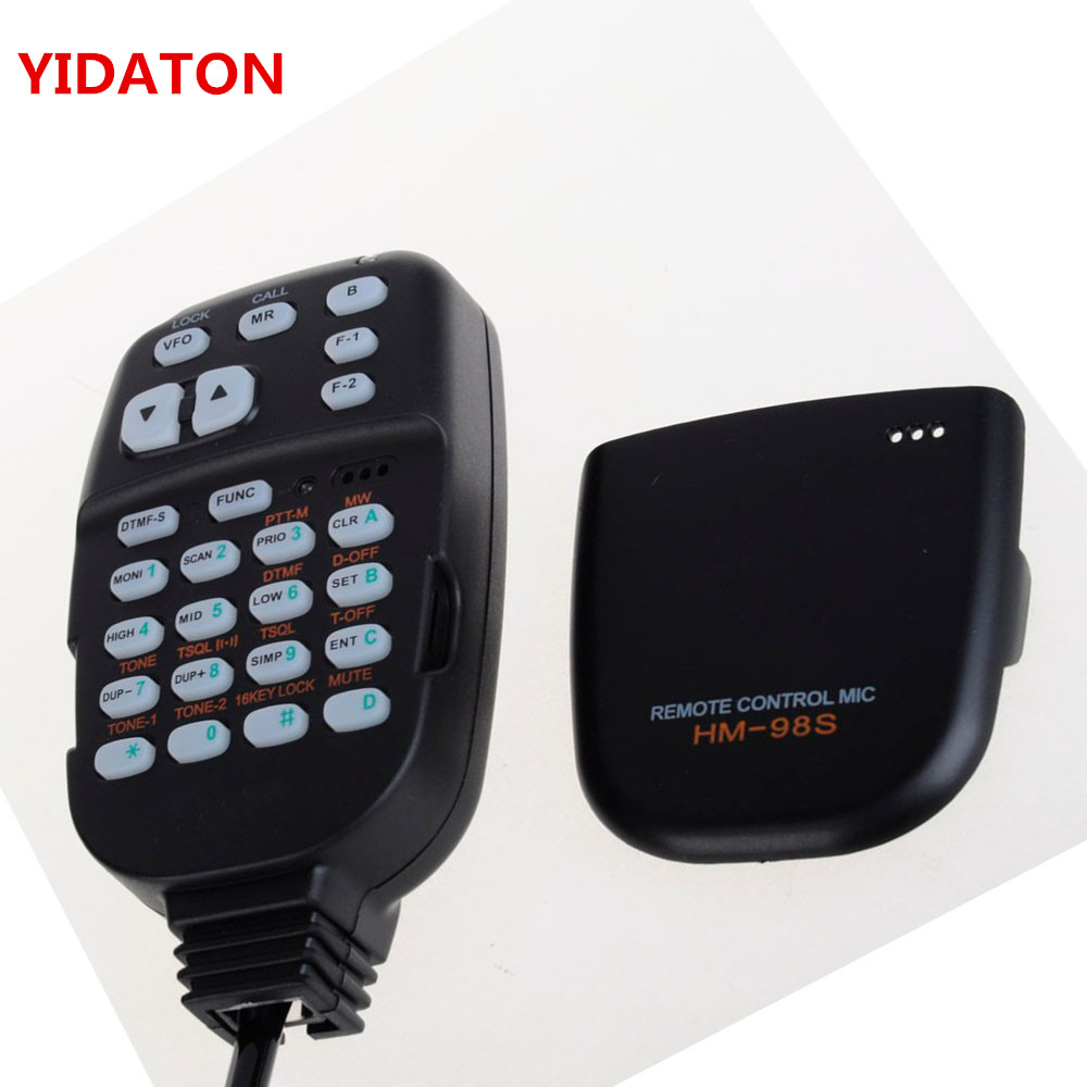 HM-98S For IC-2100H IC-2200H For Professional Radio DTMF Remote Control Microphone Mic IC-2710H IC-2800H Walkie Talkie
