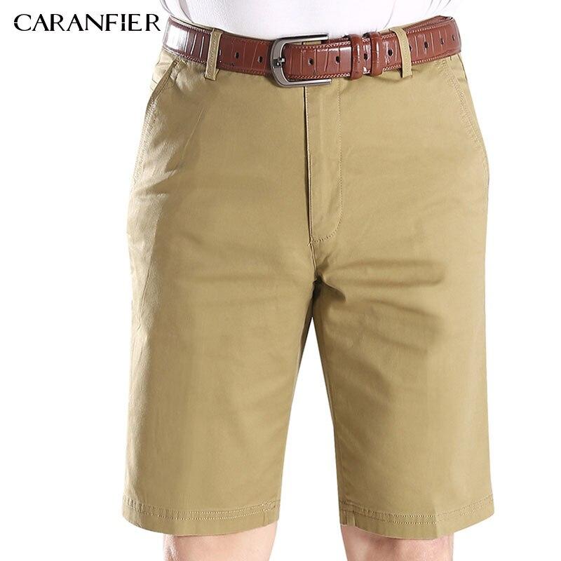 CARANFIER Mens Casual Shorts High Elasticity Multi-pocket Large Size Male Fashion British Businessmen Style Cargo Shorts