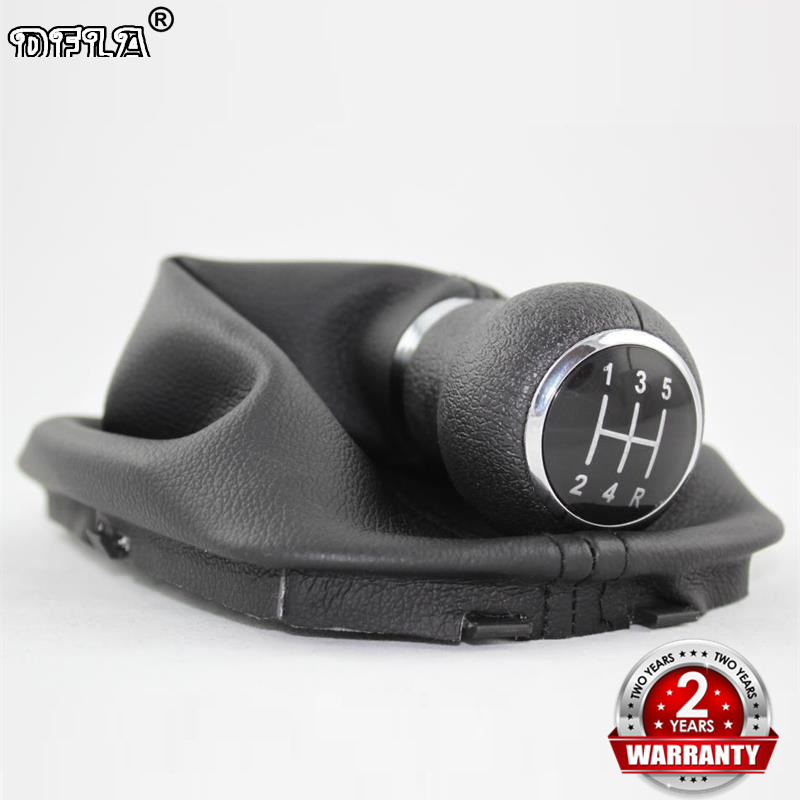 For VW Passat B5 B5.5 1997 1998 1999 2000 2001 2002 2003 2004 2005 Car-Styling 5 Speed Gear Shift Knob With Real PU Leather Boot цена