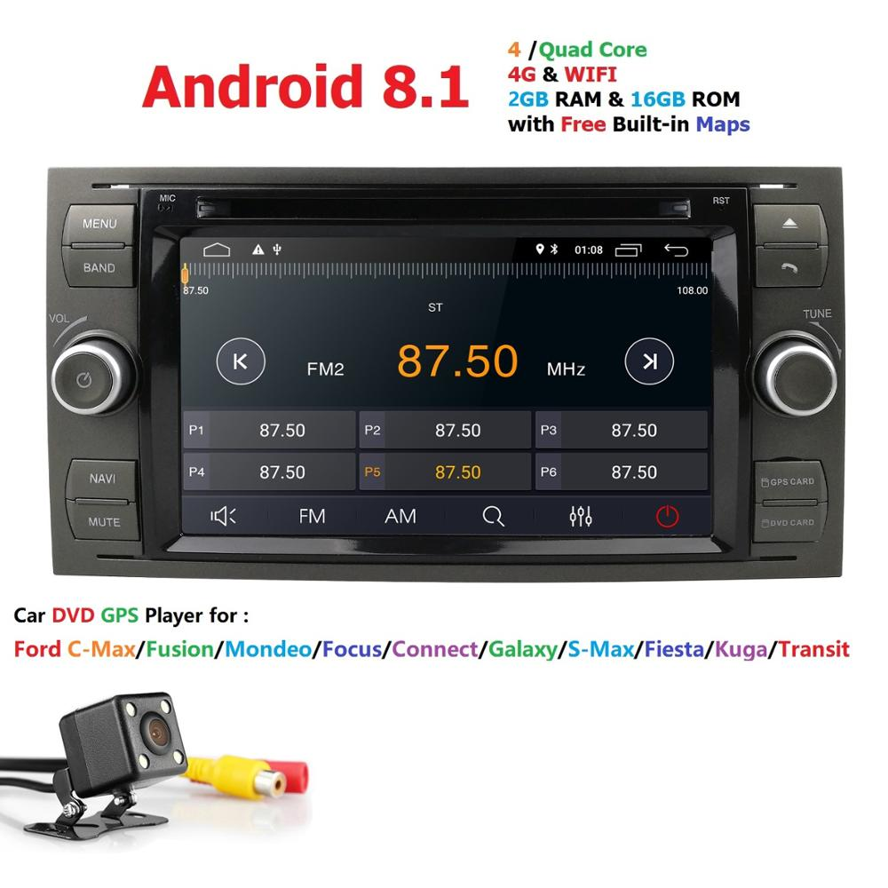 Android 8 1 Black Sliver Car DVD Player AutoRadio Audio For Ford Focus 2 3 Mondeo
