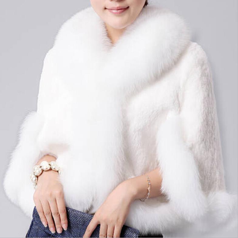 Women Layer Cloak Long Faux Fur Shawl Wrap Stole Cape Faux Fur Shawl Wrap Stole Shrug Winter Cover Up