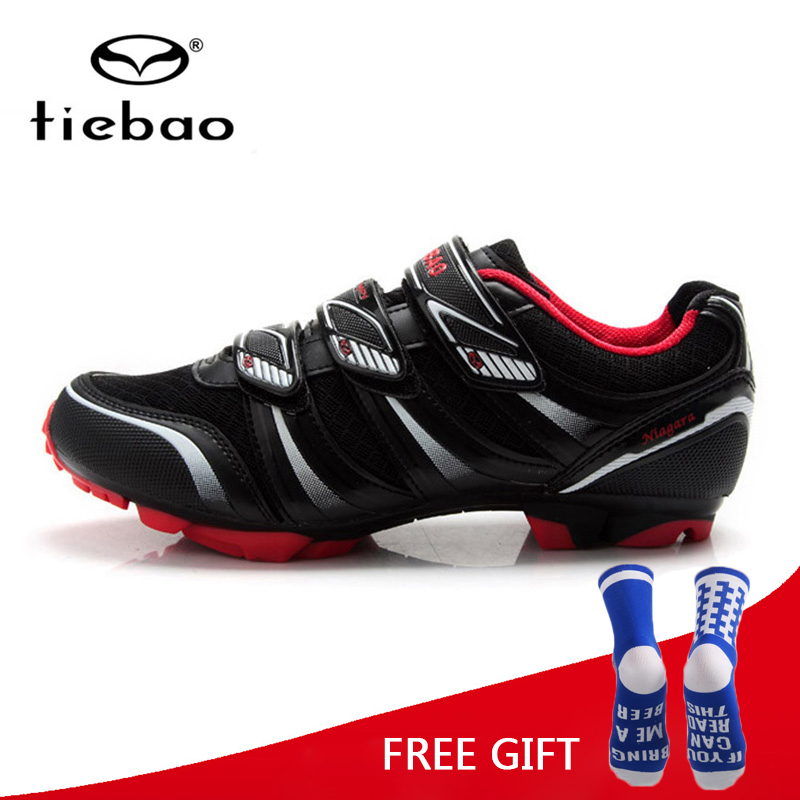 Tiebao Cycling Shoes MTB Men Breathable Bike Shoes Racing Self-Locking Bicycle Shoes Zapatos De Ciclismo De Carretera tiebao mtb bike self locking shoes ride bicycle shoes breathable cycling shoes for women men mtb ciclismo zapatos