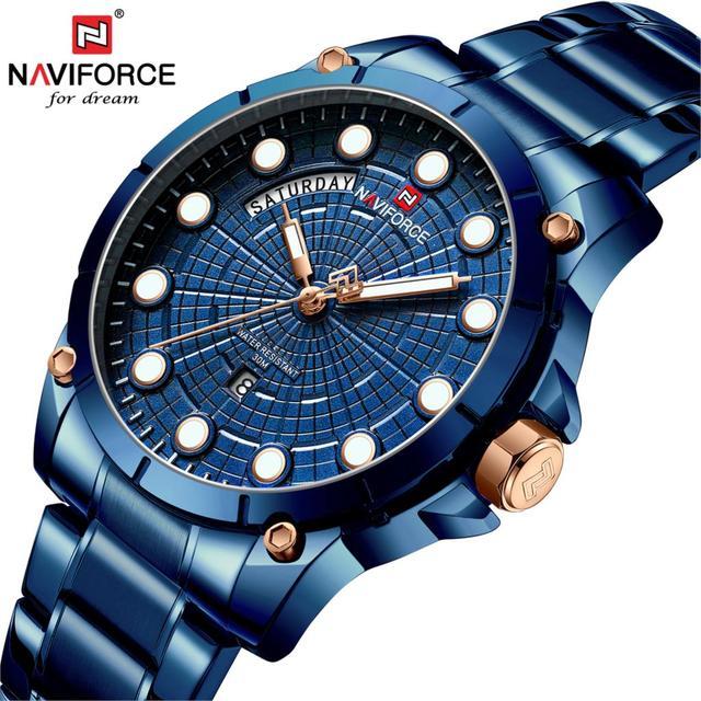 NAVIFORCE Relojes 2019 reloj para hombre reloj de cuarzo deportivo de moda Relojes para hombre de marca superior de lujo de negocios a prueba de agua reloj Masculino