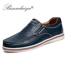 BIMUDUIYU zapatos náuticos de estilo británico para hombre, mocasines de cuero con diseño minimalista, estilo Formal, Oxford