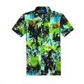 2017 NUEVOS Mens Del Verano Floral Hawaiano Playa de Moda Casual Camisa de Manga Corta Tee Tops Tallas S-2XL