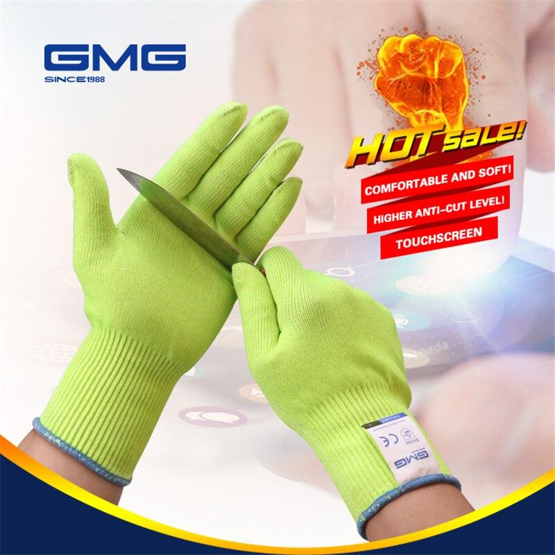 Luvas anti-corte, luvas à prova d' água para gmg amarela hepen388 ansi anticorte de nível 5, luvas de segurança luvas resistentes do corte