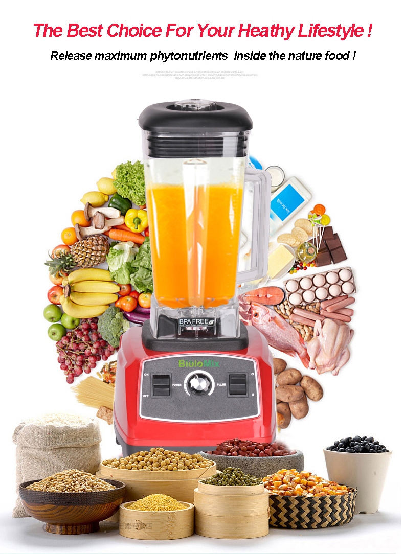 Biolomix 2200W 2L BPA FREE commercial grade home professional smoothies power blender food mixer juicer food fruit processor