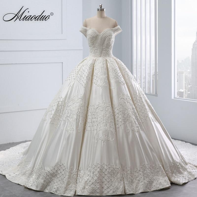 Robe De Soriee New Simple Wedding Dress Full Sleeve Lace: Dubai Wedding Dress New 2019 Robe De Soiree Longue Real
