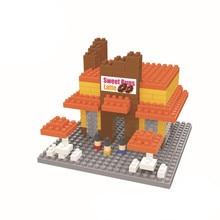 WISE HAWK Chocolates shop blocks ego nero legoe star wars duplo lepin brick minifigures ninjago guns duplo farm castle super