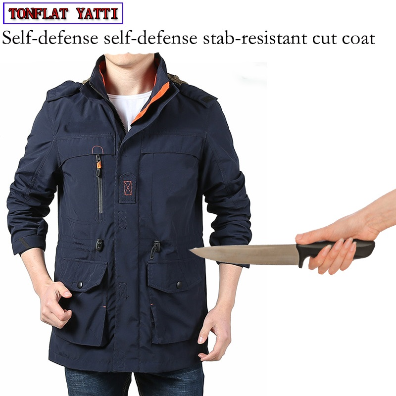 New Self Defense Security Anti-cut Anti-Hack Anti-Sta Jacket Military Stealth Defensa Police Personal Tactics Clothing 3 Color