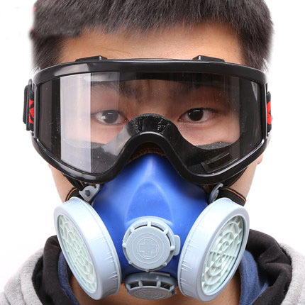 Masks Health Care Dust Masks With Large View Goggles Industrial Anti-dust Methanal Pm2.5 Protective Respirator Mask Painting Spraying Facepiece Good Companions For Children As Well As Adults