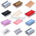 100PCS Pillow Candy Box Paperboard 5-8 candies Capacity Wedding Decoration Sweets Gift Pouch Colorful