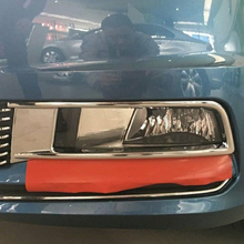 Free Shipping High Quality ABS Chrome Front Fog lamps cover Trim Fog lamp shade Trim For Volkswagen VW Touareg стоимость