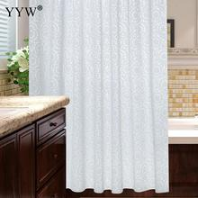 Luxury Bath Shower Curtains Modern Pure Color Screens Large Peva 3d Waterproof Curtain White Clear Bathroom