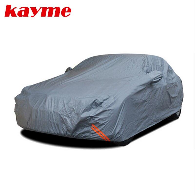 Kayme épaississent hiver voiture housses imperméables peva coton en plein air poussière pluie neige de protection suv berline à hayon pleine couverture pour voiture