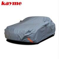 Kayme Waterproof Car Covers Peva Cotton Outdoor Sun Protection Dust Rain Snow Protective Suv Sedan Hatchback