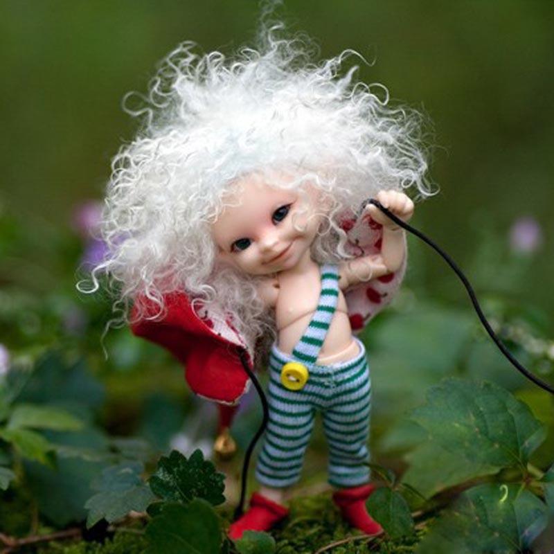 New Arrival 1/12 BJD lalki BJD/SD bardzo ładny SOSO lalki z oczami i rzęs dla dziewczynek prezent darmowa wysyłka (w tym makijaż) w Lalki od Zabawki i hobby na  Grupa 1