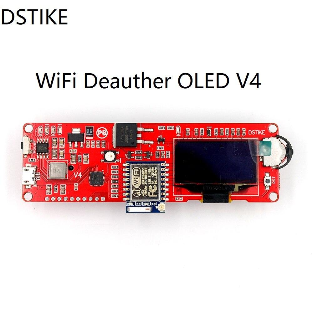 Carte de développement de DSTIKE WiFi Deauther OLED V4 WiFi attaque/contrôle/Test NodeMCU ESP8266 Arduino