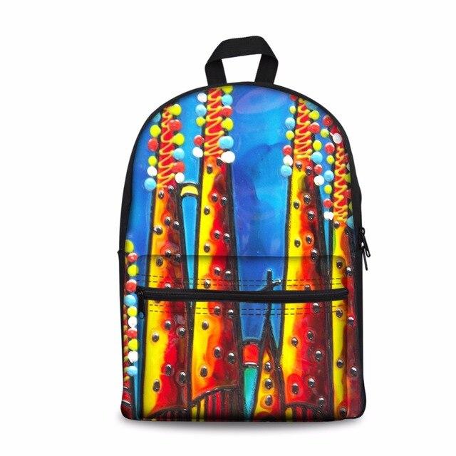 Noisydesigns  Carton Women Casual Backpack Denim Printing School Backpack For Teenage Boys Girls Student Colorful BackBag Mochil