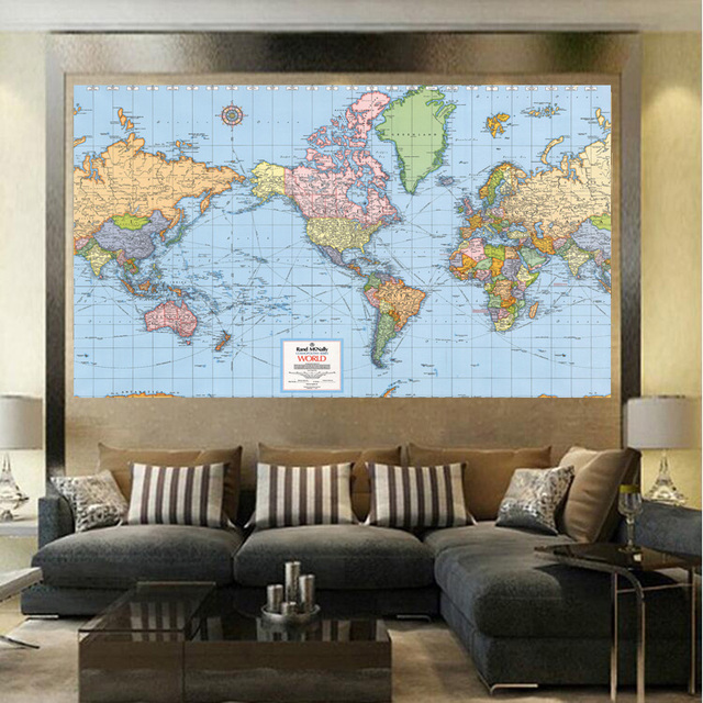 Factory direct sale world map fashion living room paintings print factory direct sale world map fashion living room paintings print on canvas oil painting no framed gumiabroncs Gallery