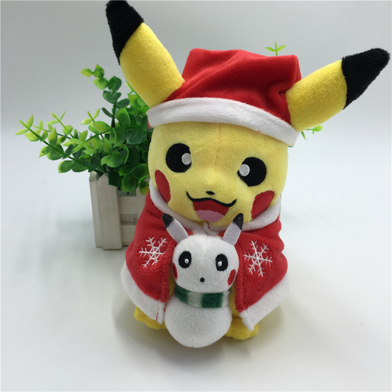 Toys At Christmas : New style pikachu plush toys santa claus christmas gift